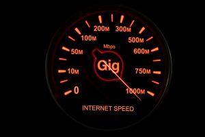 Symmetrical GIGABIT speeds over fiber optics