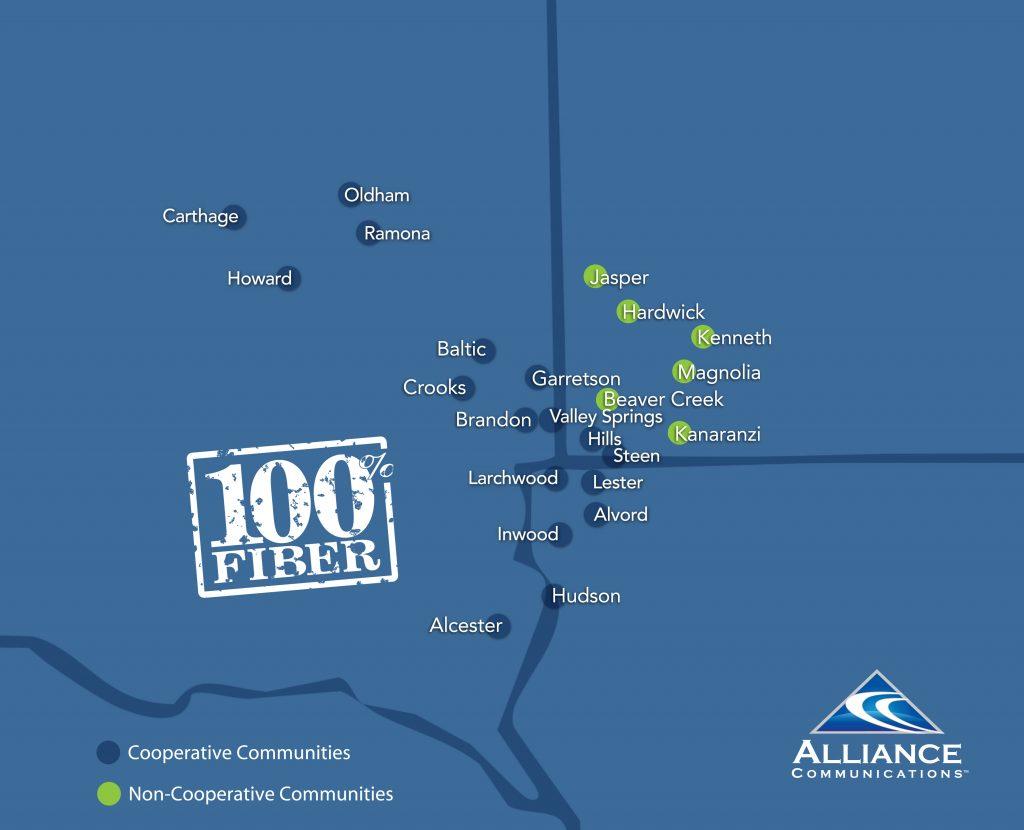 Alliance Service Area Map