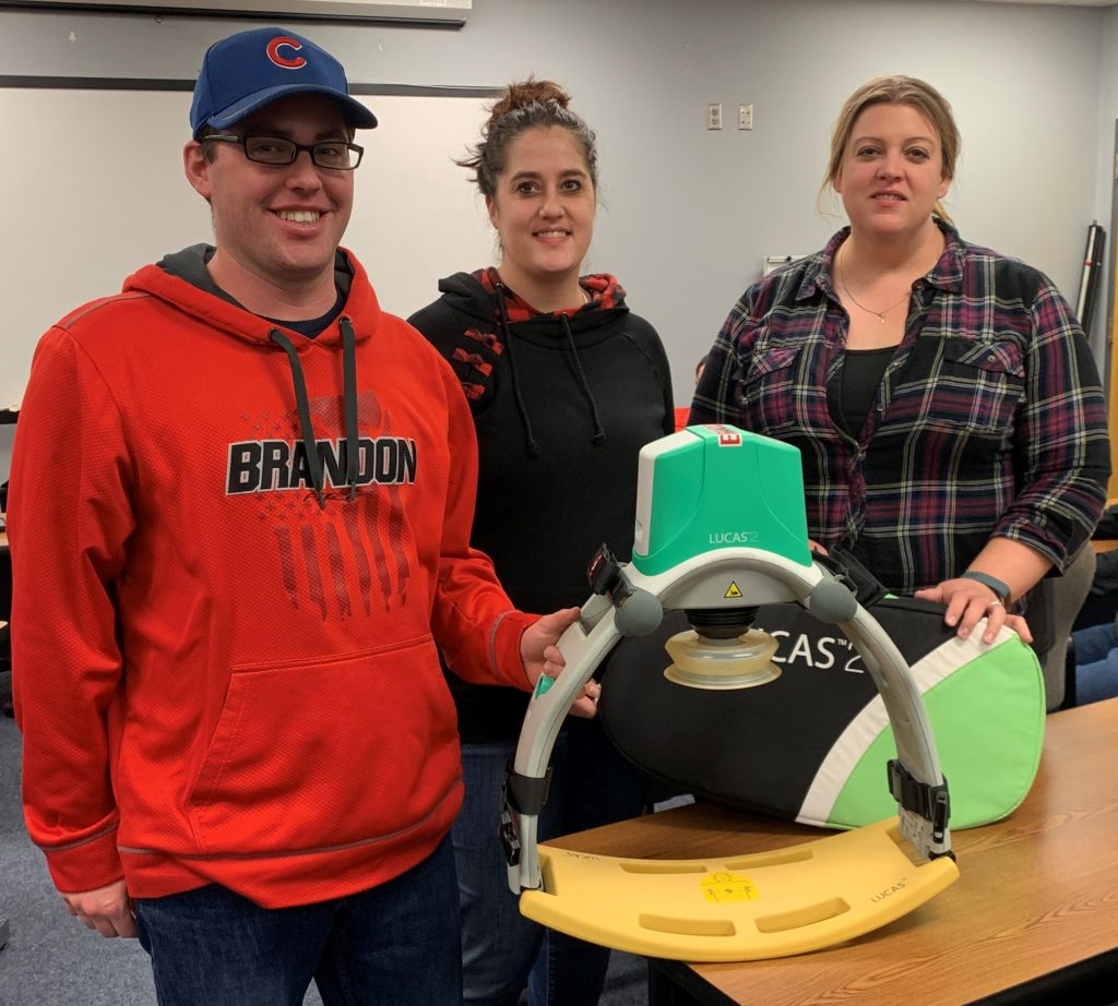 The Brandon Volunteer Fire Department used Keep the Change funds to purchase a new LUCAS CPR device, which delivers high-quality chest compressions to sudden cardiac arrest patients.