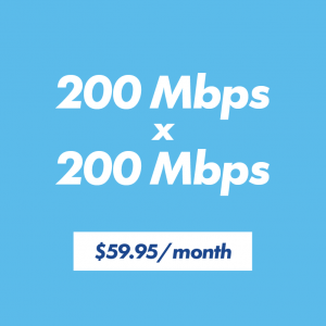 200 x 200 internet speed for $59.95 per month