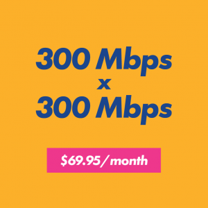 300 x 300 internet speed for $69.95 per month